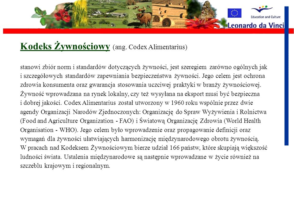 Kodeks Żywnościowy (ang. Codex Alimentarius)