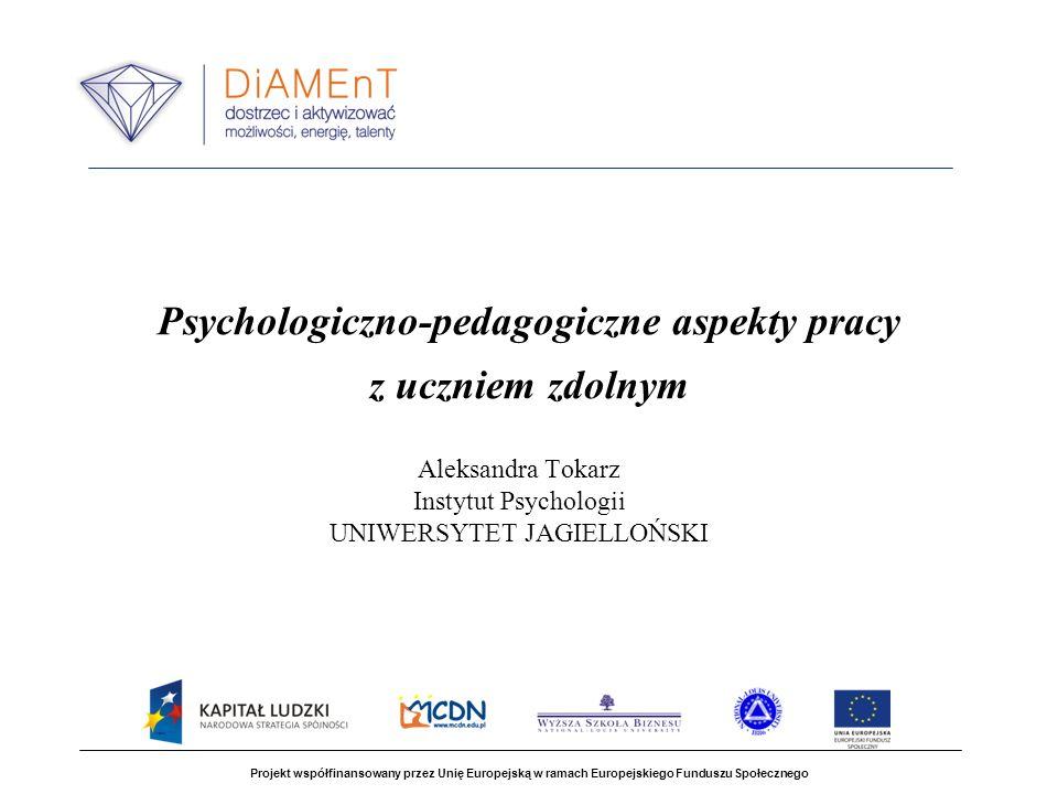 Psychologiczno-pedagogiczne aspekty pracy z uczniem zdolnym
