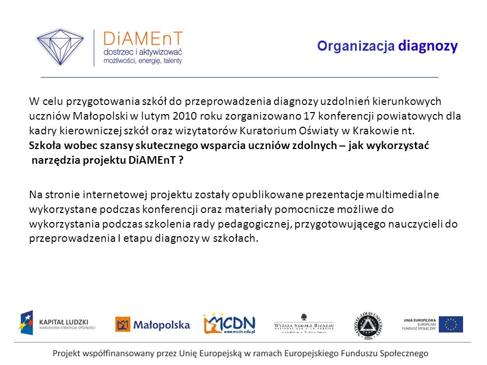 Organizacja diagnozy