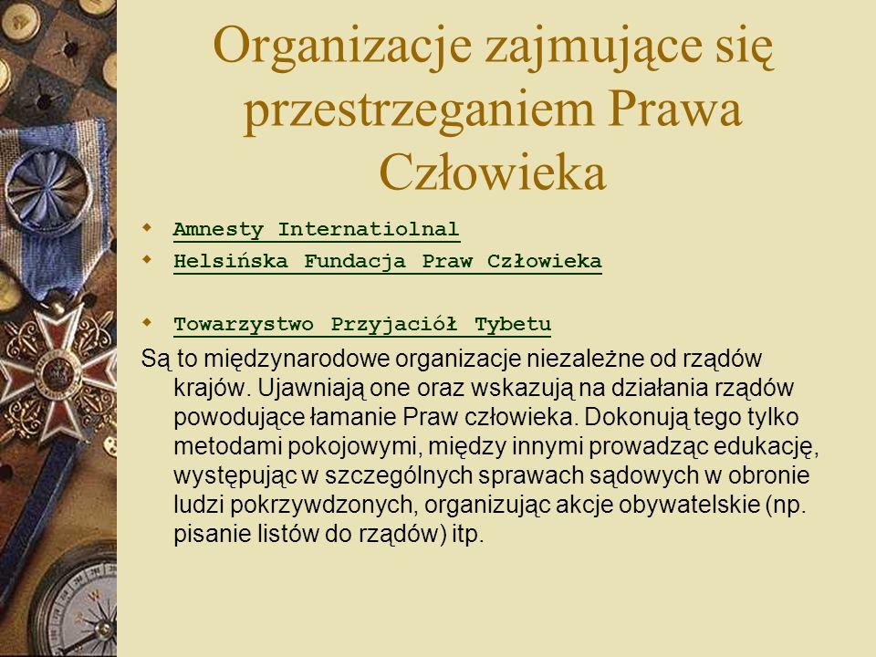 Organizacje zajmujące się przestrzeganiem Prawa Człowieka