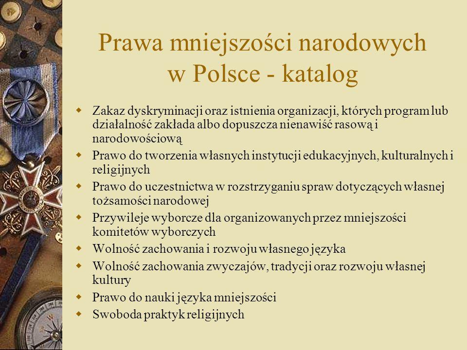 Prawa mniejszości narodowych w Polsce - katalog