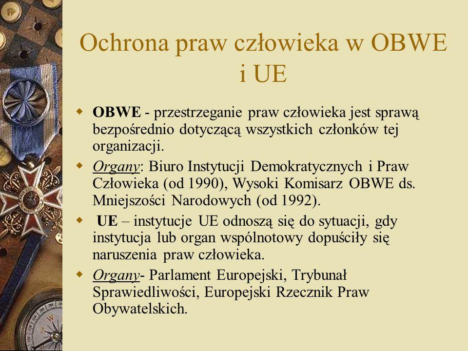 Ochrona praw człowieka w OBWE i UE