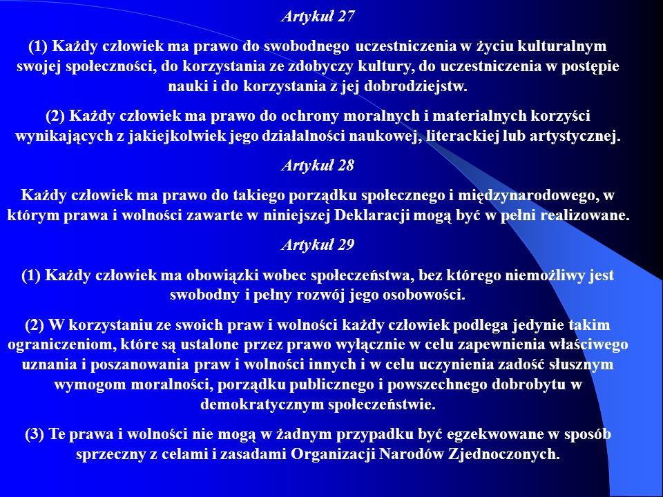 Artykuł 27