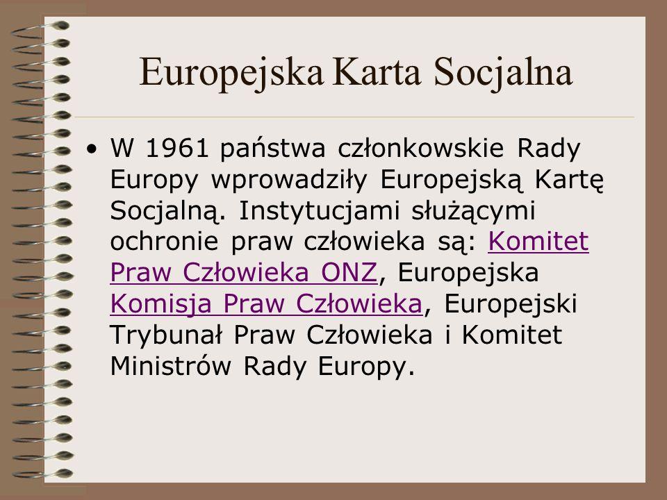 Europejska Karta Socjalna