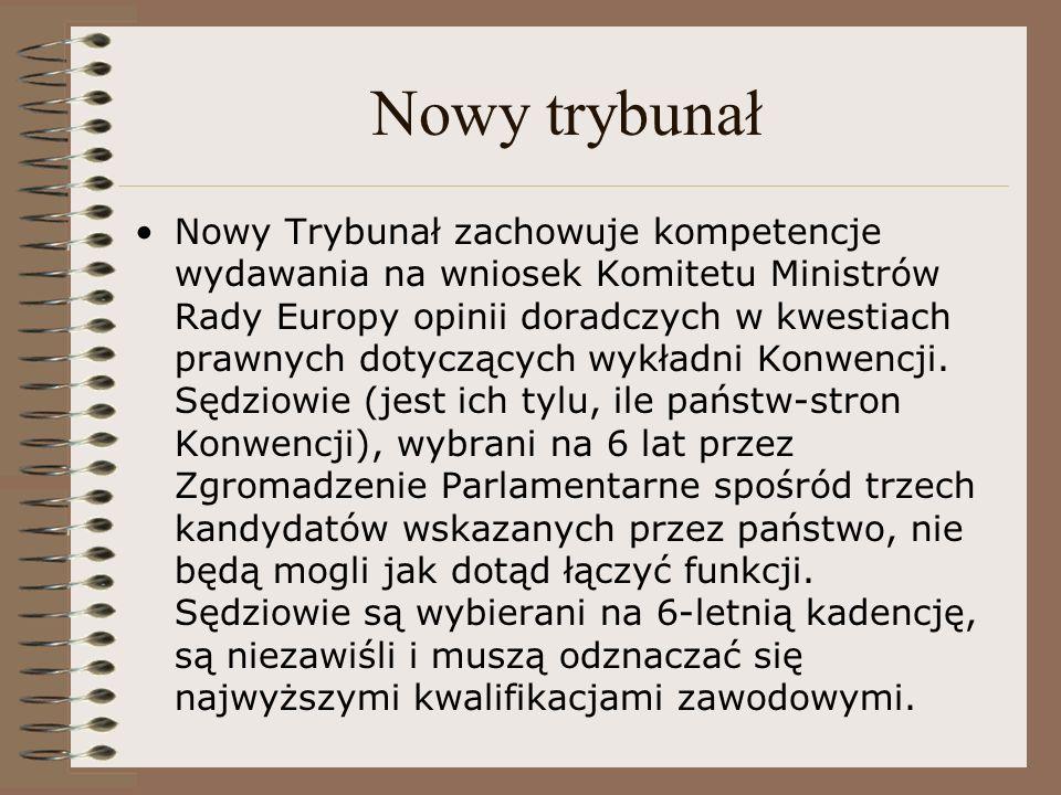 Nowy trybunał