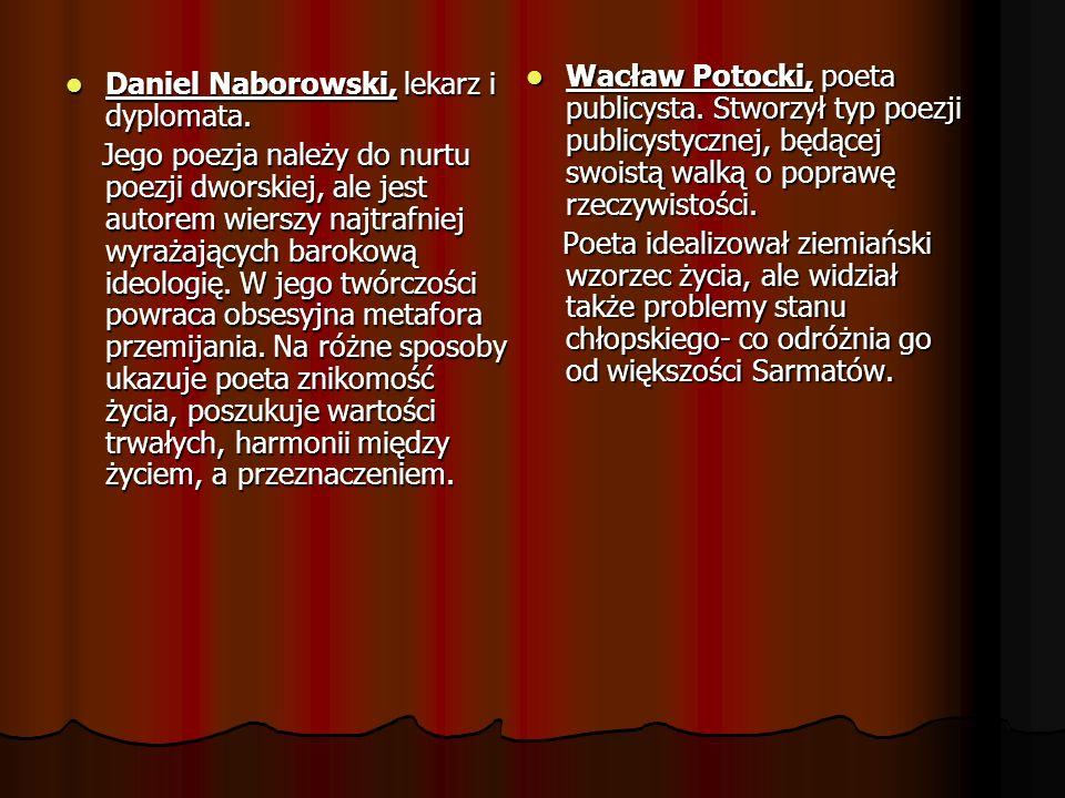 Wacław Potocki, poeta publicysta