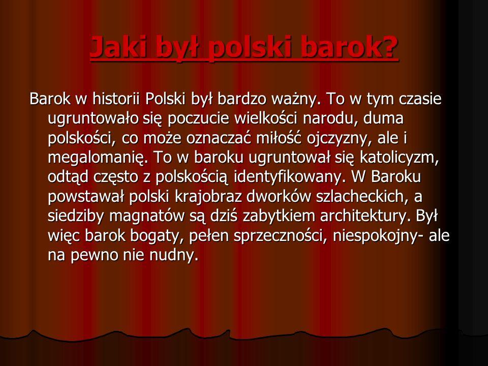 Jaki był polski barok