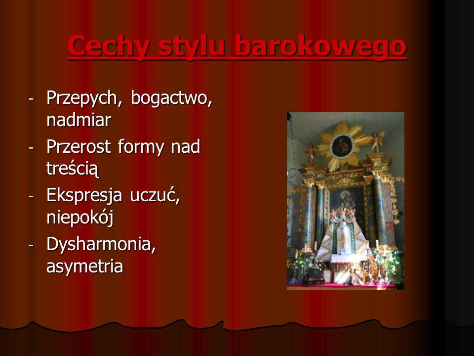 Cechy stylu barokowego