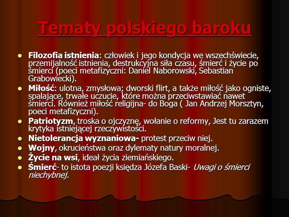 Tematy polskiego baroku