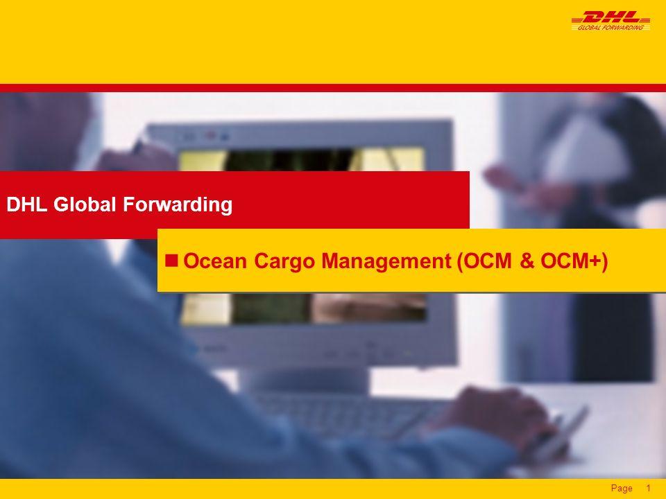 Ocean Cargo Management (OCM & OCM+)