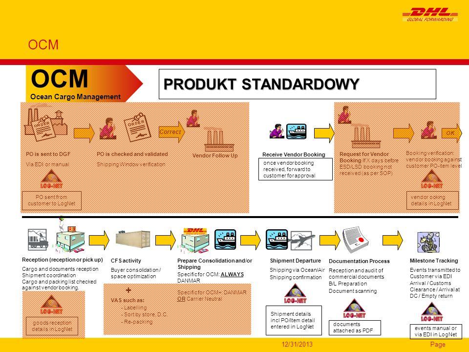 OCM PRODUKT STANDARDOWY OCM + Ocean Cargo Management 3/26/2017 Correct
