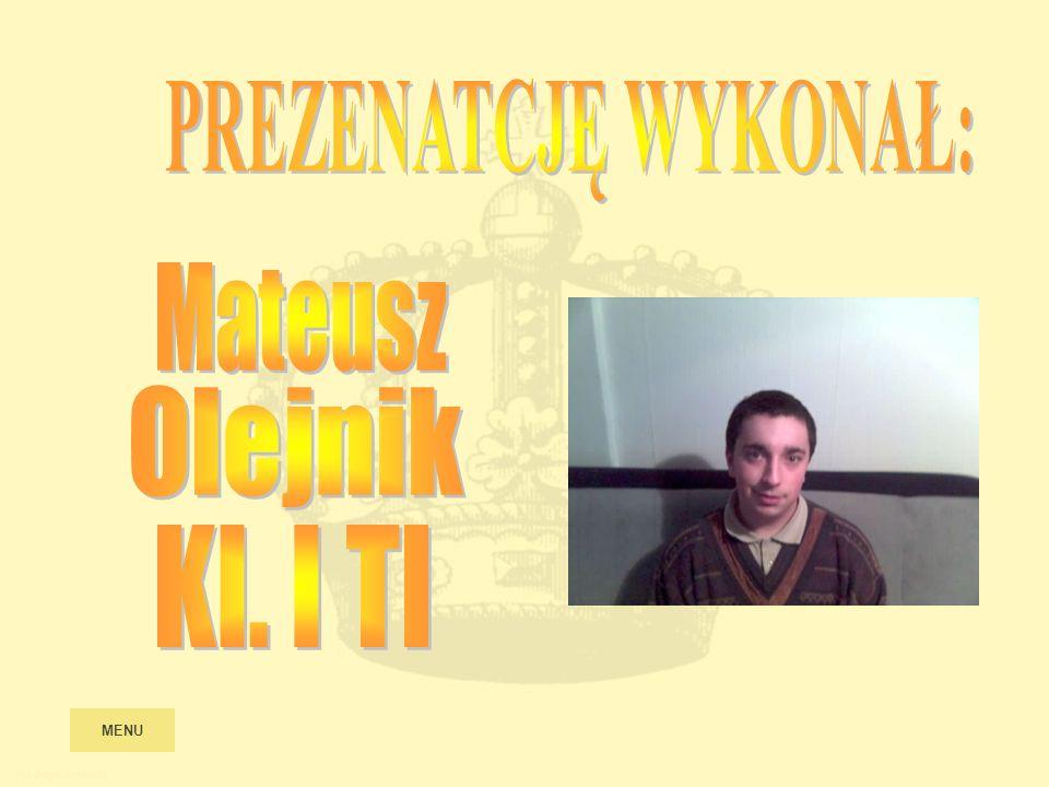 PREZENATCJĘ WYKONAŁ: Mateusz Olejnik Kl. I TI MENU Po Jagiellonach