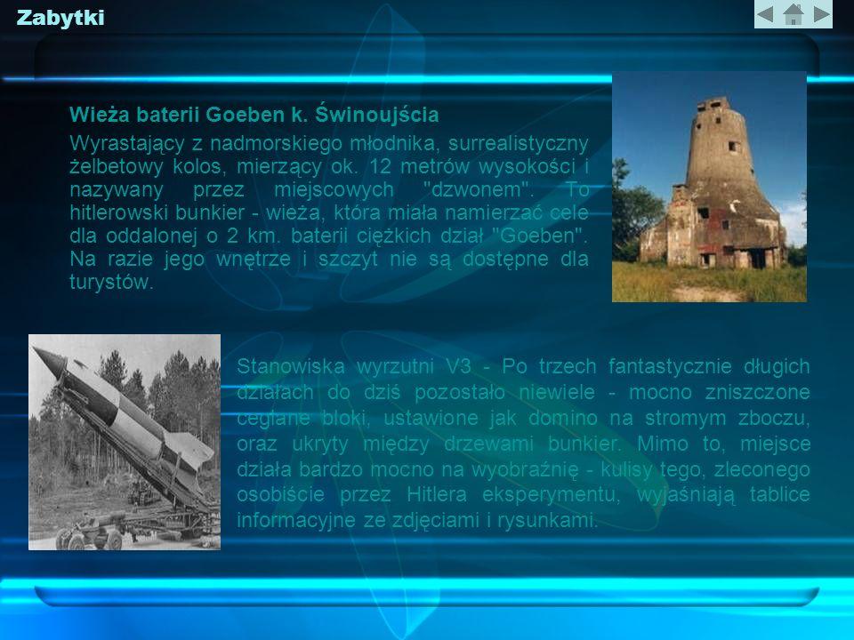 Zabytki Wieża baterii Goeben k. Świnoujścia.