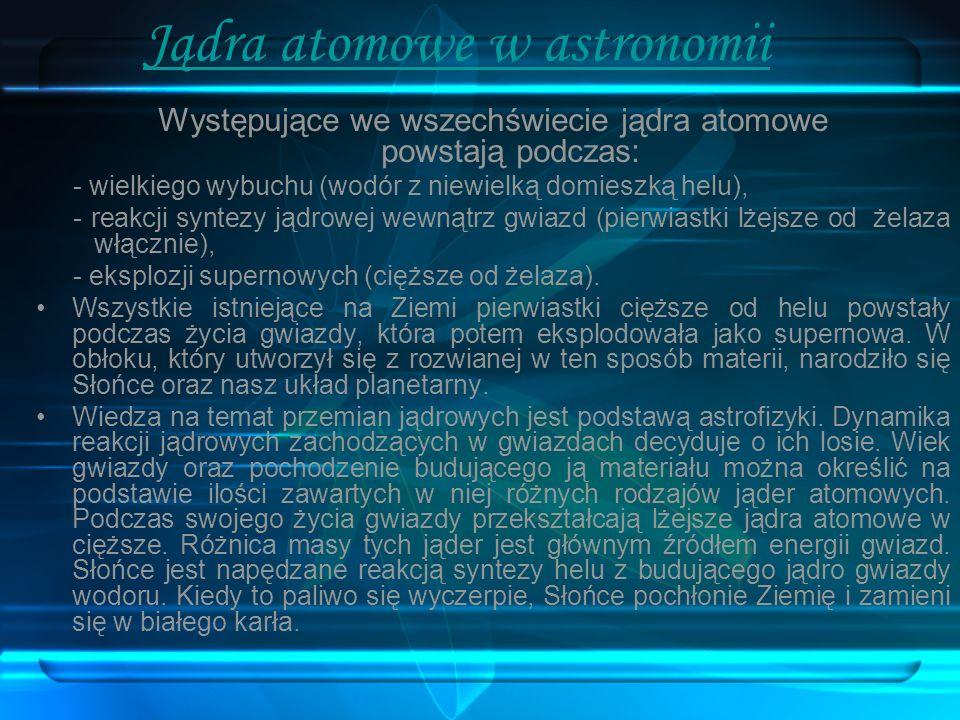 Jądra atomowe w astronomii