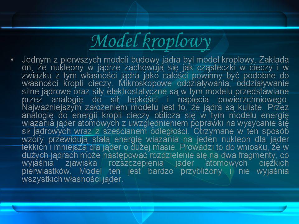 Model kroplowy