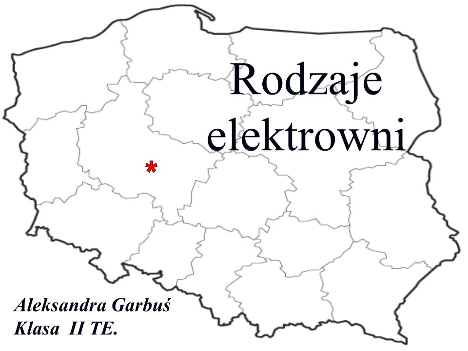 Rodzaje elektrowni * Aleksandra Garbuś Klasa II TE.