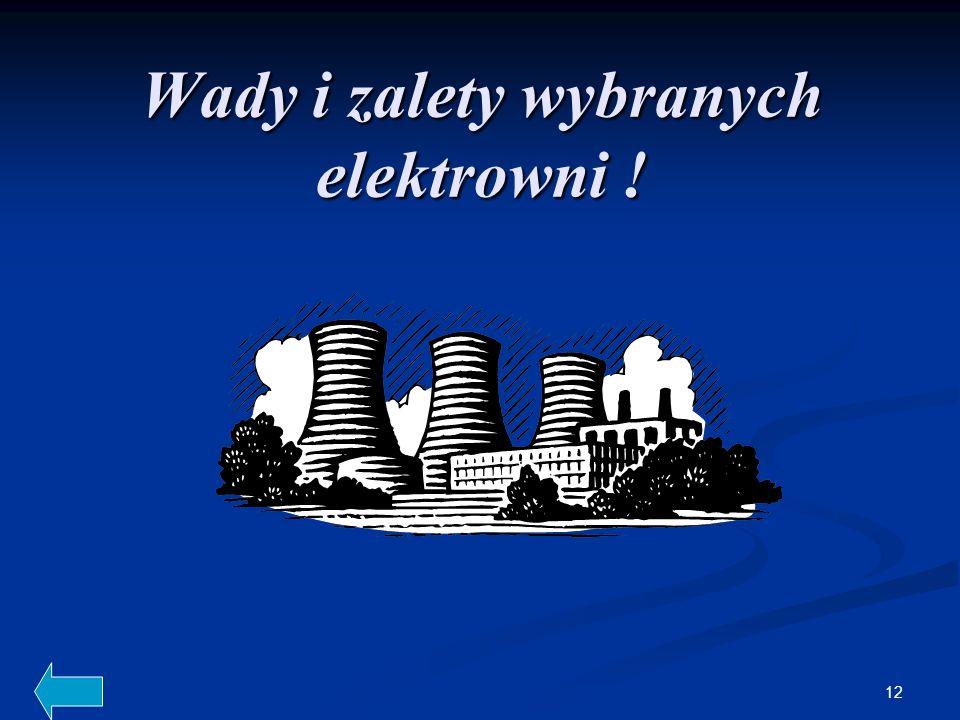 Wady i zalety wybranych elektrowni !