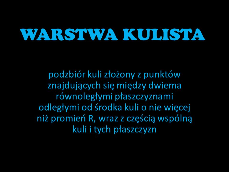 WARSTWA KULISTA