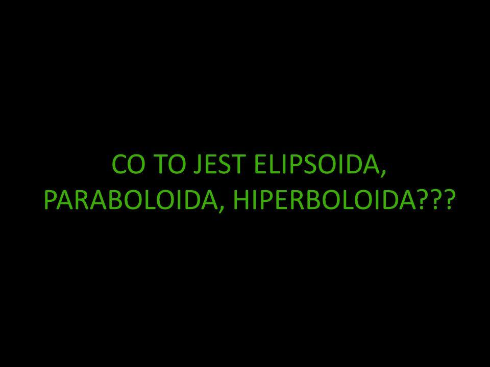CO TO JEST ELIPSOIDA, PARABOLOIDA, HIPERBOLOIDA