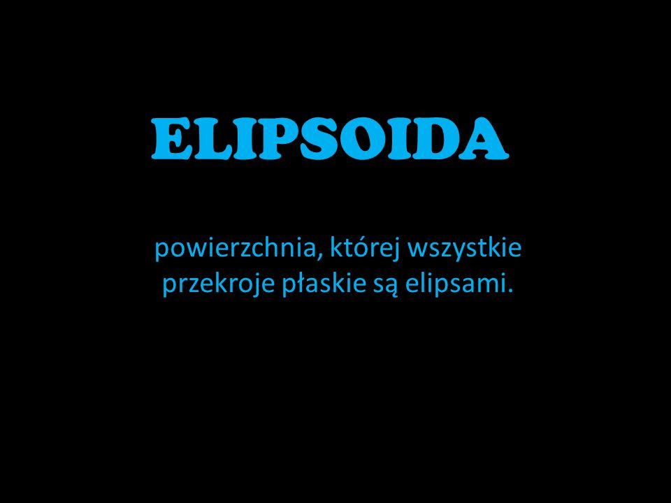 powierzchnia, której wszystkie przekroje płaskie są elipsami.