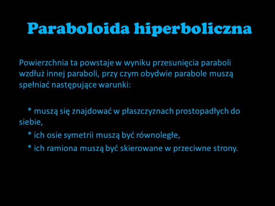 Paraboloida hiperboliczna