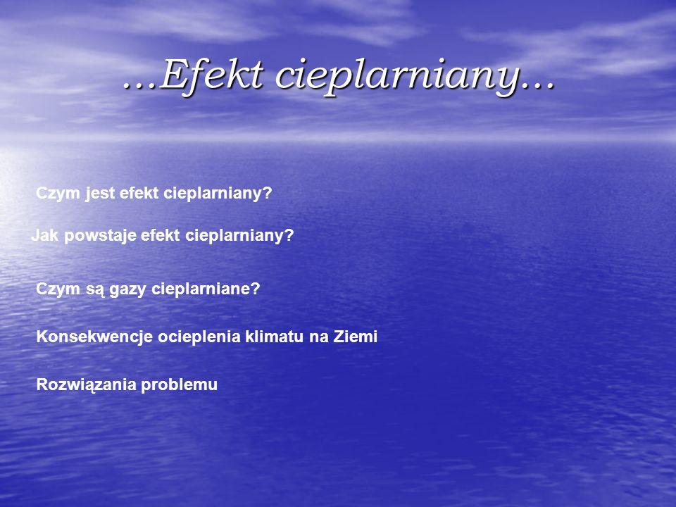 ...Efekt cieplarniany... Czym jest efekt cieplarniany