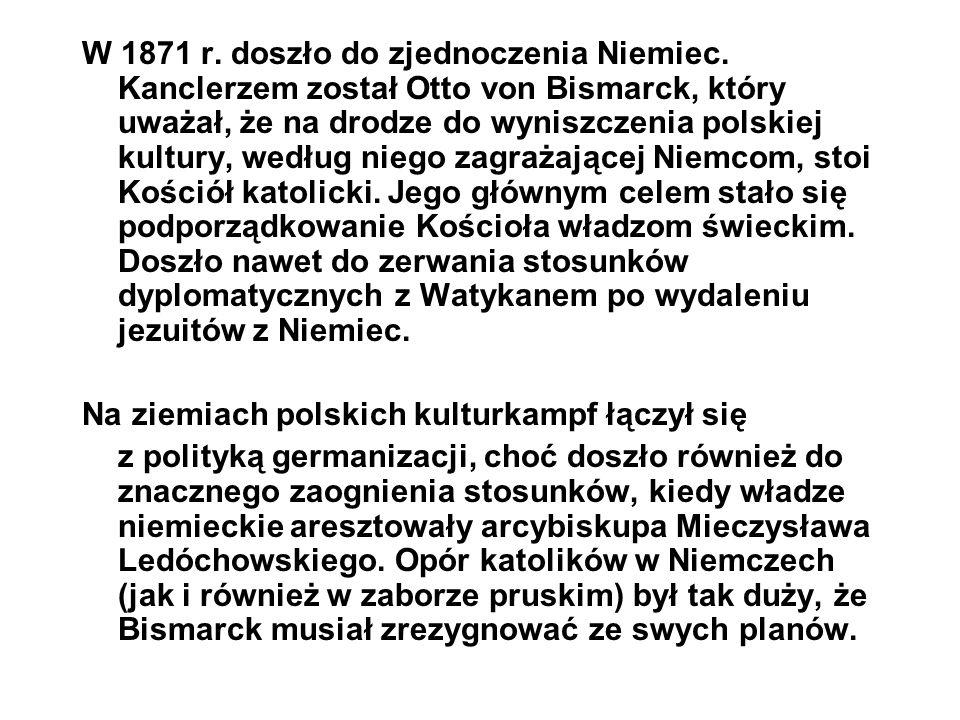 W 1871 r. doszło do zjednoczenia Niemiec
