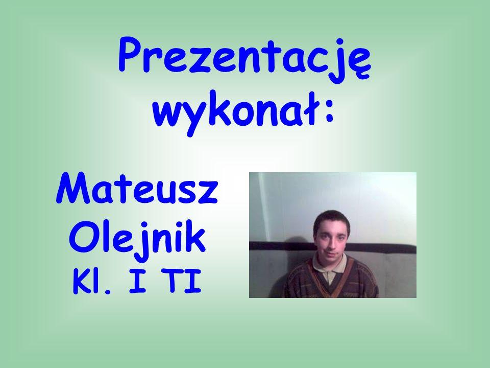 Prezentację wykonał: Mateusz Olejnik Kl. I TI