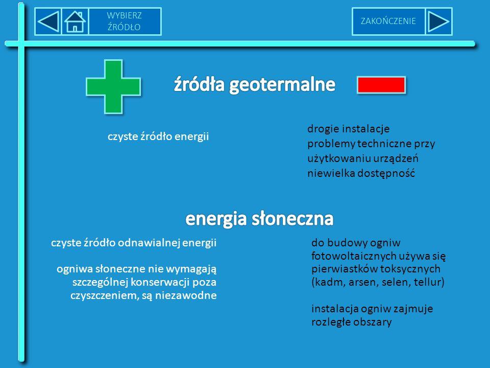 źródła geotermalne energia słoneczna drogie instalacje