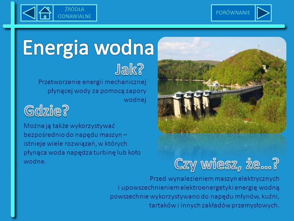 Energia wodna Jak Gdzie Czy wiesz, że…