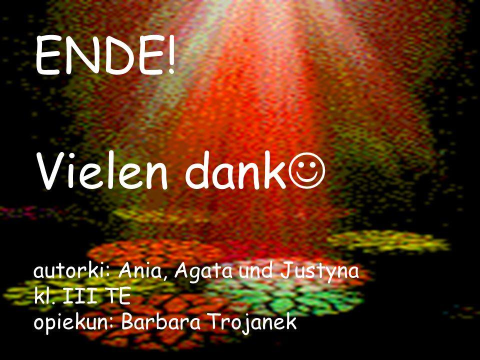 ENDE. Vielen dank autorki: Ania, Agata und Justyna kl