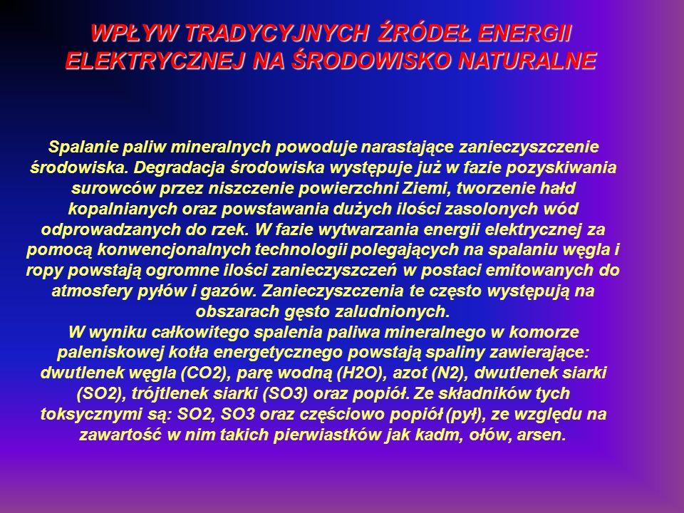 WPŁYW TRADYCYJNYCH ŹRÓDEŁ ENERGII ELEKTRYCZNEJ NA ŚRODOWISKO NATURALNE