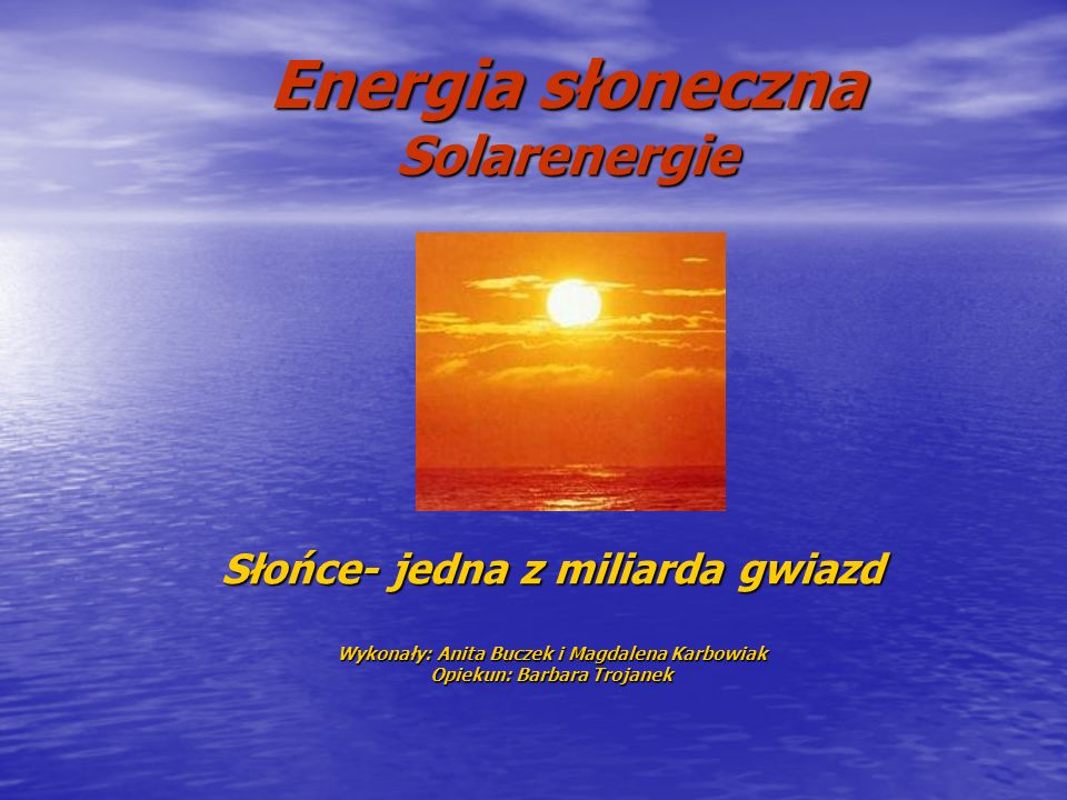 Energia słoneczna Solarenergie