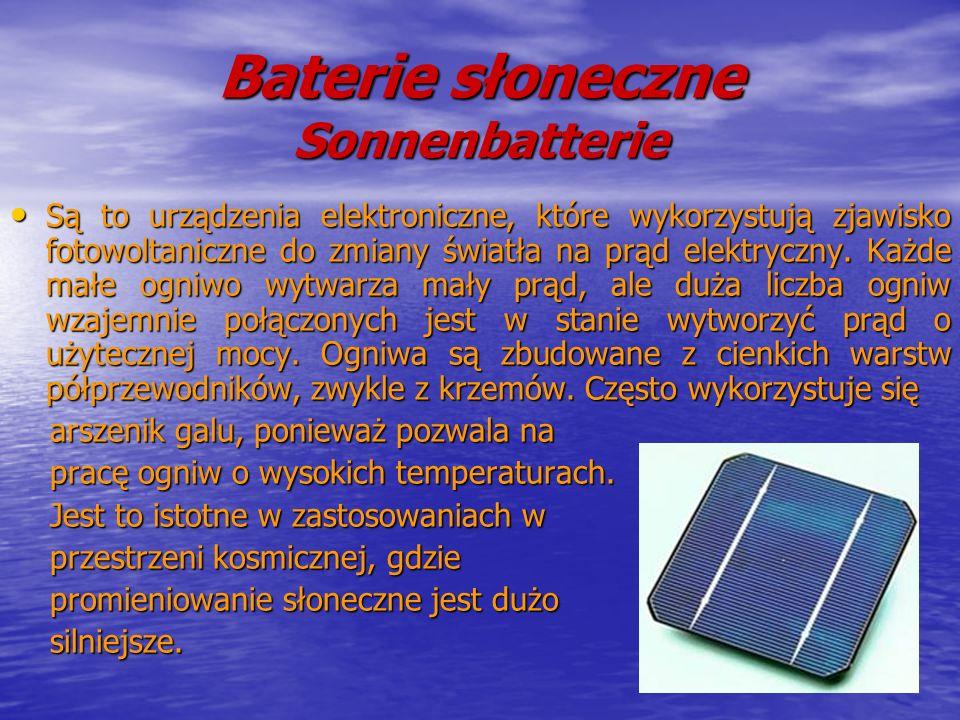 Baterie słoneczne Sonnenbatterie