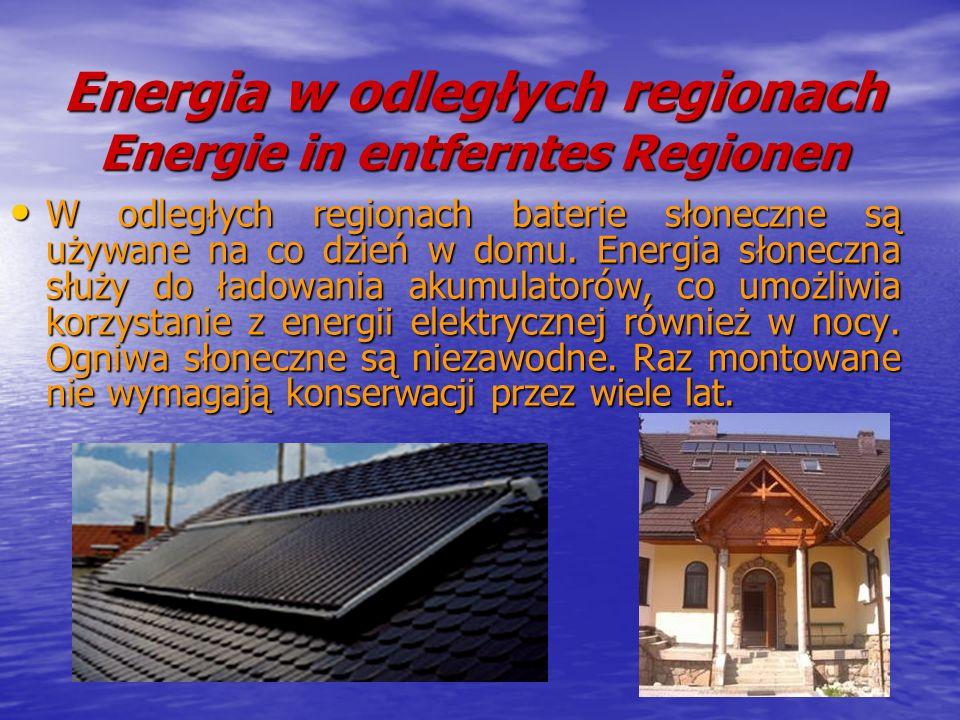 Energia w odległych regionach Energie in entferntes Regionen