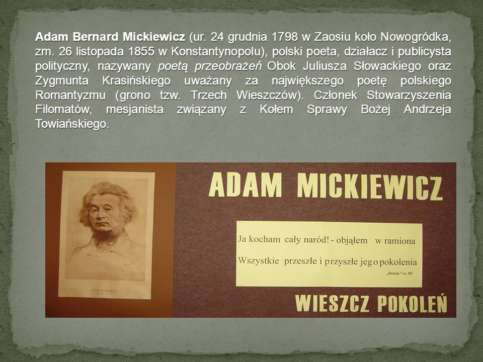 Adam Bernard Mickiewicz (ur