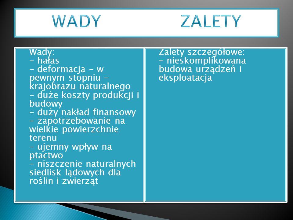 WADY ZALETY