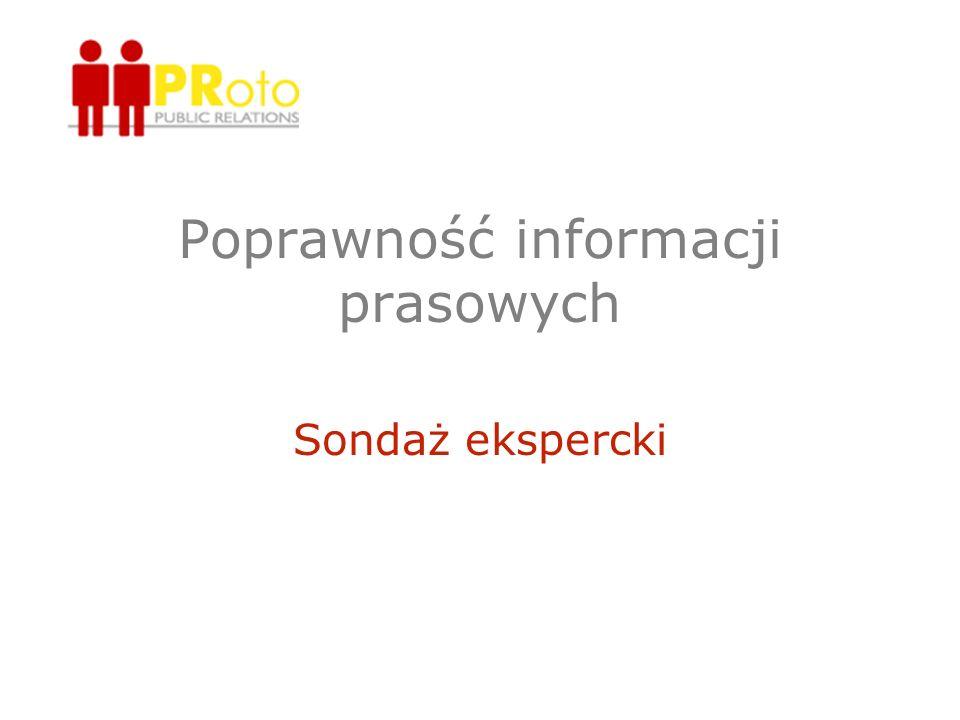 Poprawność informacji prasowych
