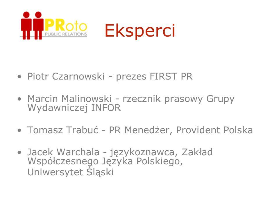 Eksperci Piotr Czarnowski - prezes FIRST PR