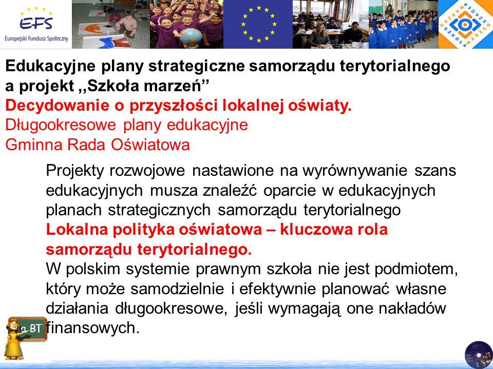 Edukacyjne plany strategiczne samorządu terytorialnego