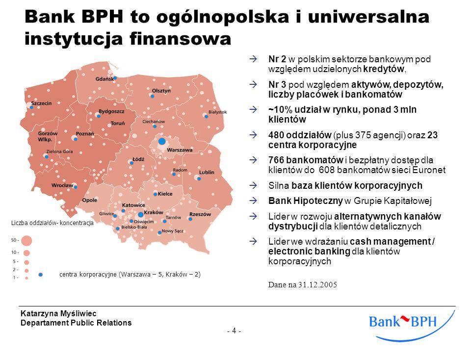 Bank BPH to ogólnopolska i uniwersalna instytucja finansowa