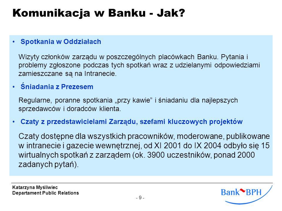 Komunikacja w Banku - Jak