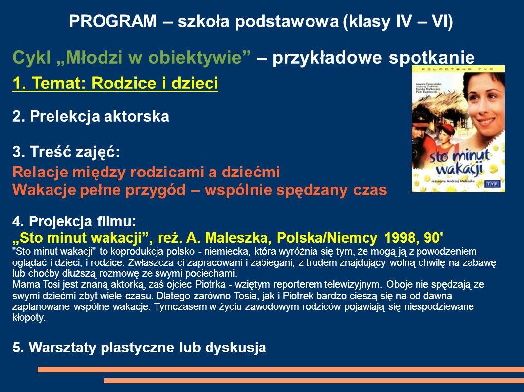 PROGRAM – szkoła podstawowa (klasy IV – VI)