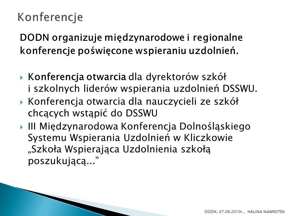Konferencje DODN organizuje międzynarodowe i regionalne