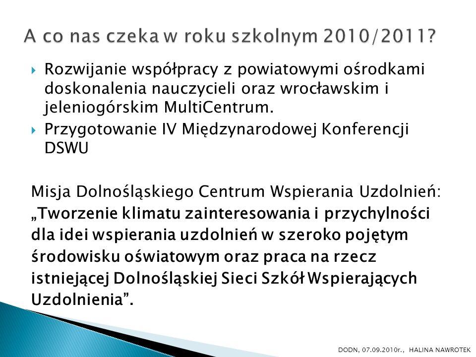 A co nas czeka w roku szkolnym 2010/2011