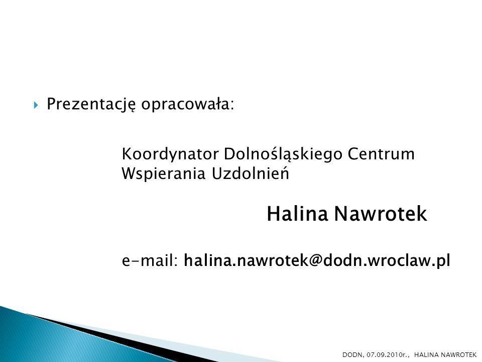 Halina Nawrotek Prezentację opracowała: