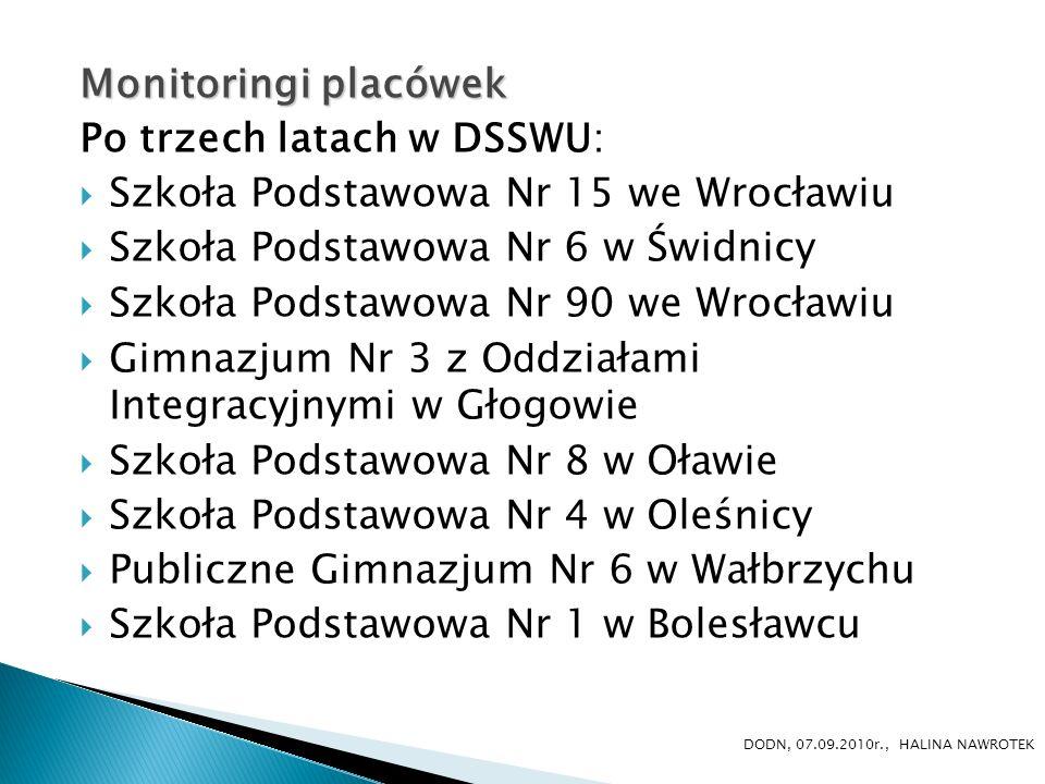 Po trzech latach w DSSWU: Szkoła Podstawowa Nr 15 we Wrocławiu