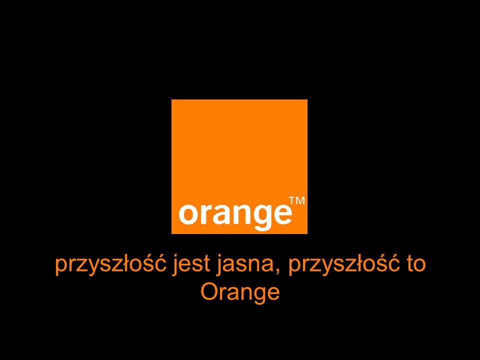przyszłość jest jasna, przyszłość to Orange