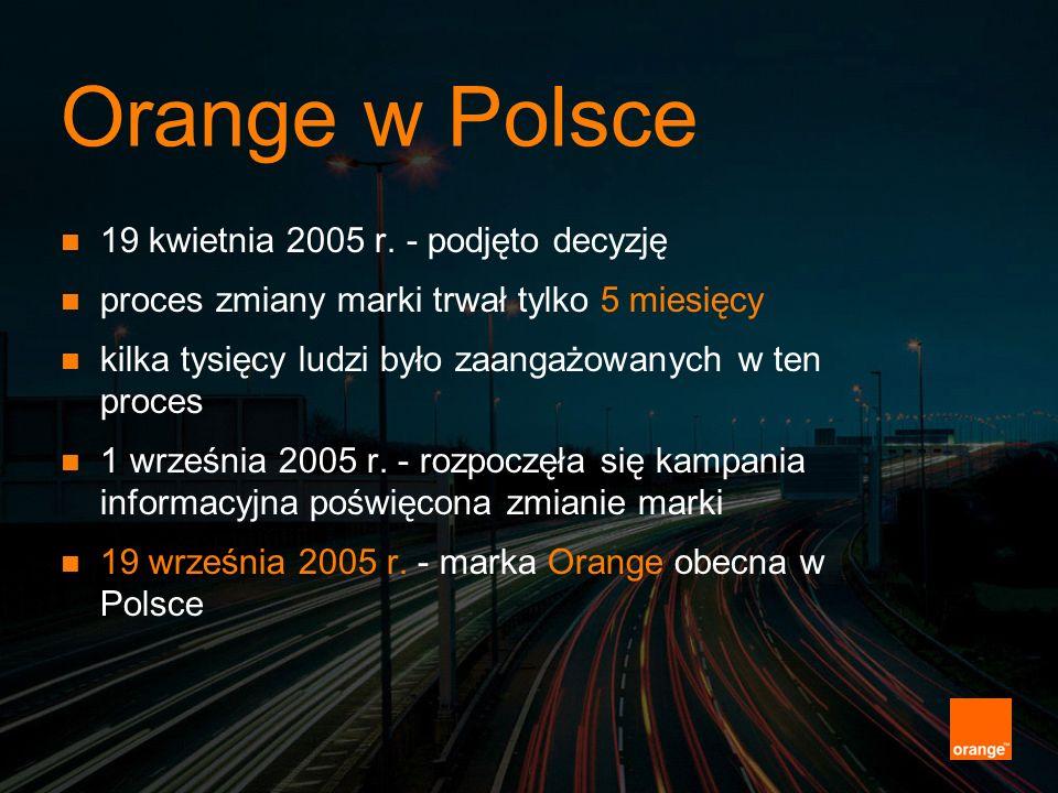 Orange w Polsce 19 kwietnia 2005 r. - podjęto decyzję