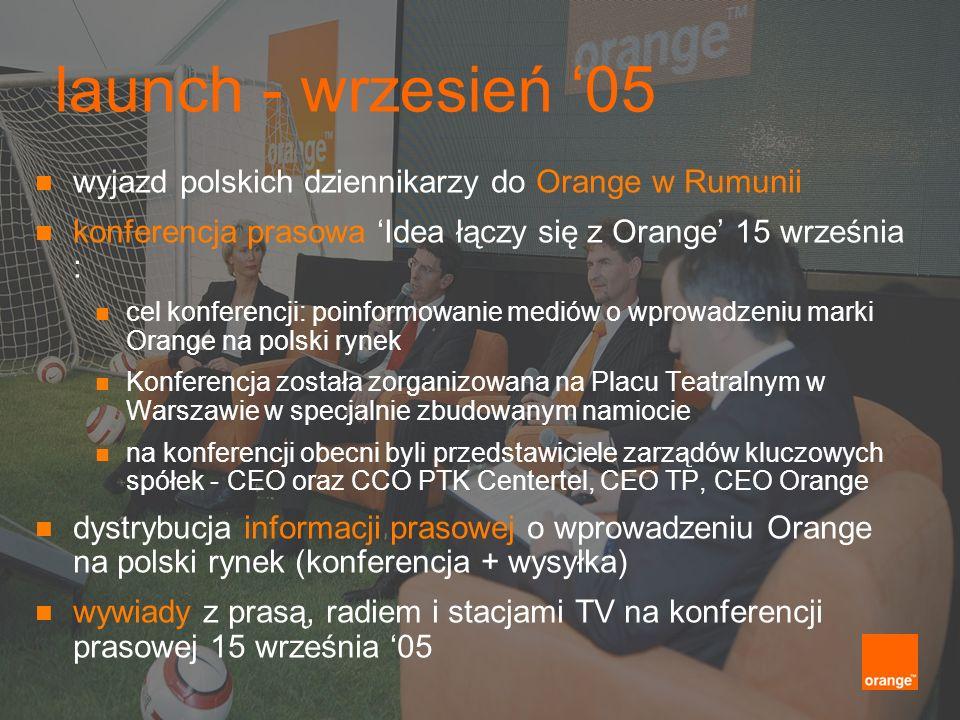 launch - wrzesień '05 wyjazd polskich dziennikarzy do Orange w Rumunii